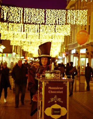 Monsieur Chocolat im weihnachtlichen Gütersloh